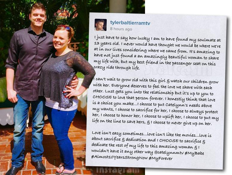 #TeenMom @TylerBaltierra pens love letter for @CatelynnLowell after nearly 10 yrs together http://t.co/vucTfnKwYV