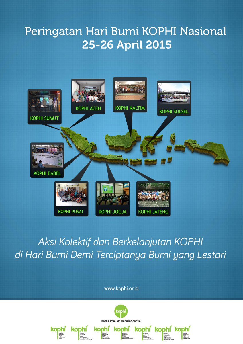 Peringatan Hari Bumi - KOPHI Nasional. Aksi Kolektif @KOPHI_ di Hari Bumi Demi Bumi yang Lestari! http://t.co/fbor9l4ECl