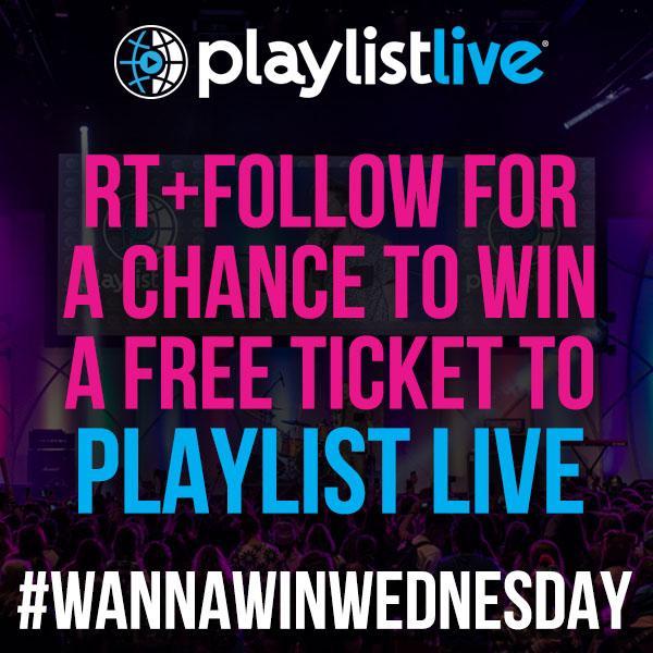 Good luck! #playlistlive #wannawinwednesday http://t.co/spWAgmyKQ0
