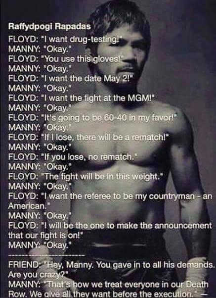 Beautifully said.. That's why I'm Manny Pacquiao since I was a little kid ;-) http://t.co/0dQRRv2wCK