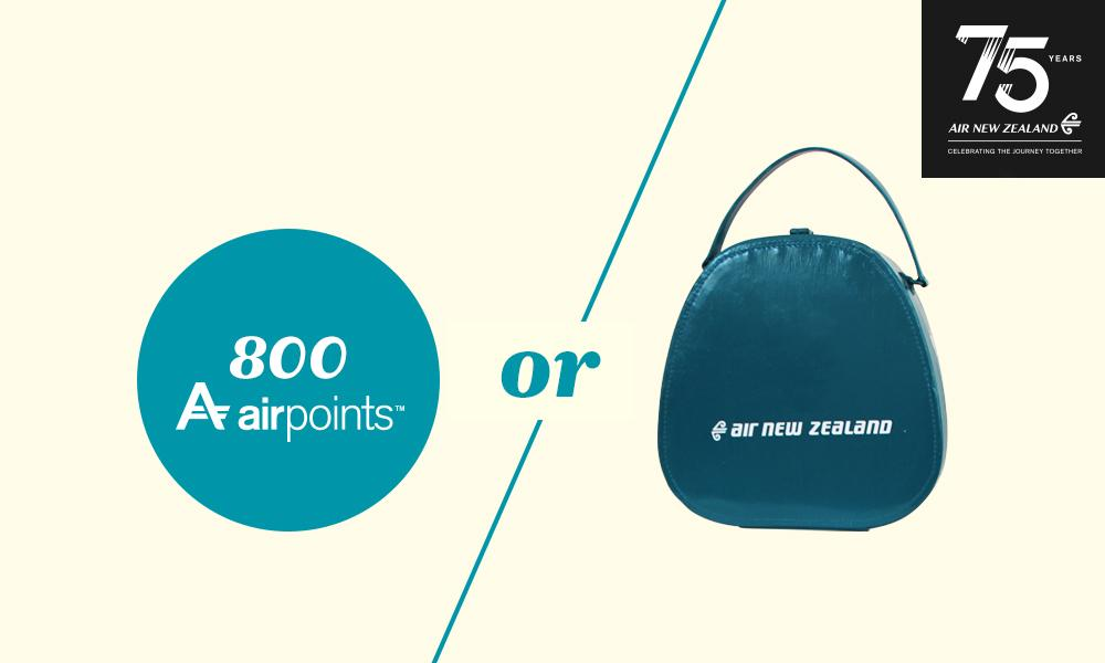 The Airpoints or the bag? RT with your choice & AirNZ75 to be in to win for our 75th birthday