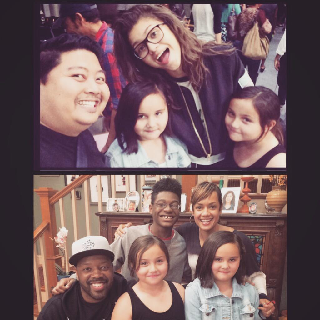 my girls got 2 meet @Zendaya & the rest of the @KCUndercoverTV cast 4 their bday. thanks again @TammyTownsend10! xoxo http://t.co/UK5Y6oMZml