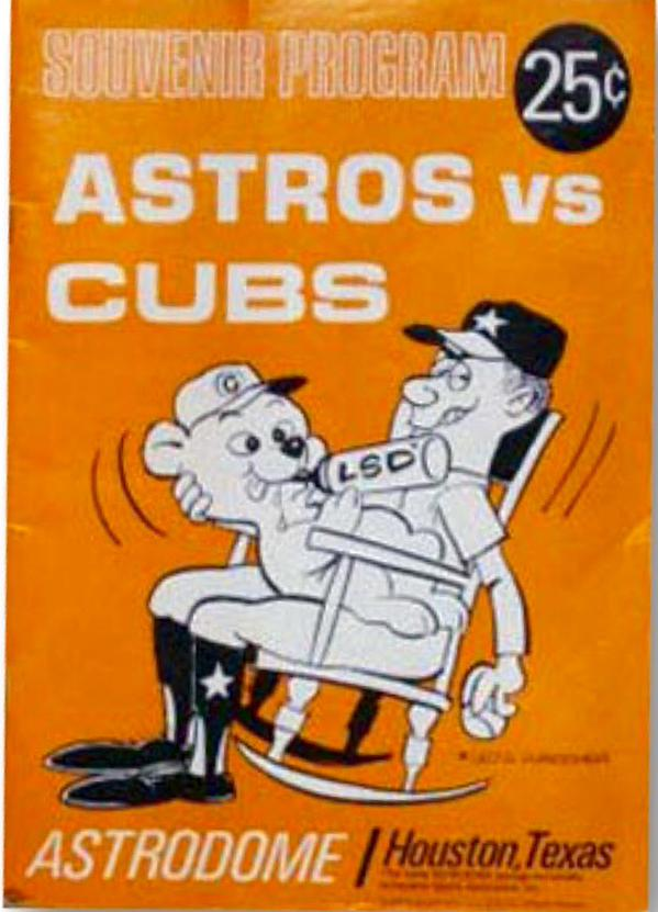 I'm guessing the artist of this Astros game program cover from the '60s wouldn't have lasted long today. http://t.co/PClCnh5YAG