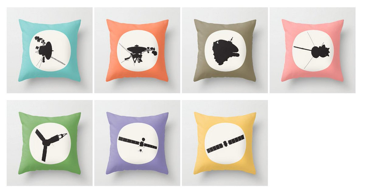 Made a new adorable thing: space probe pillows! Available on http://t.co/lrcG7ghzY5 http://t.co/zc9liN3O74