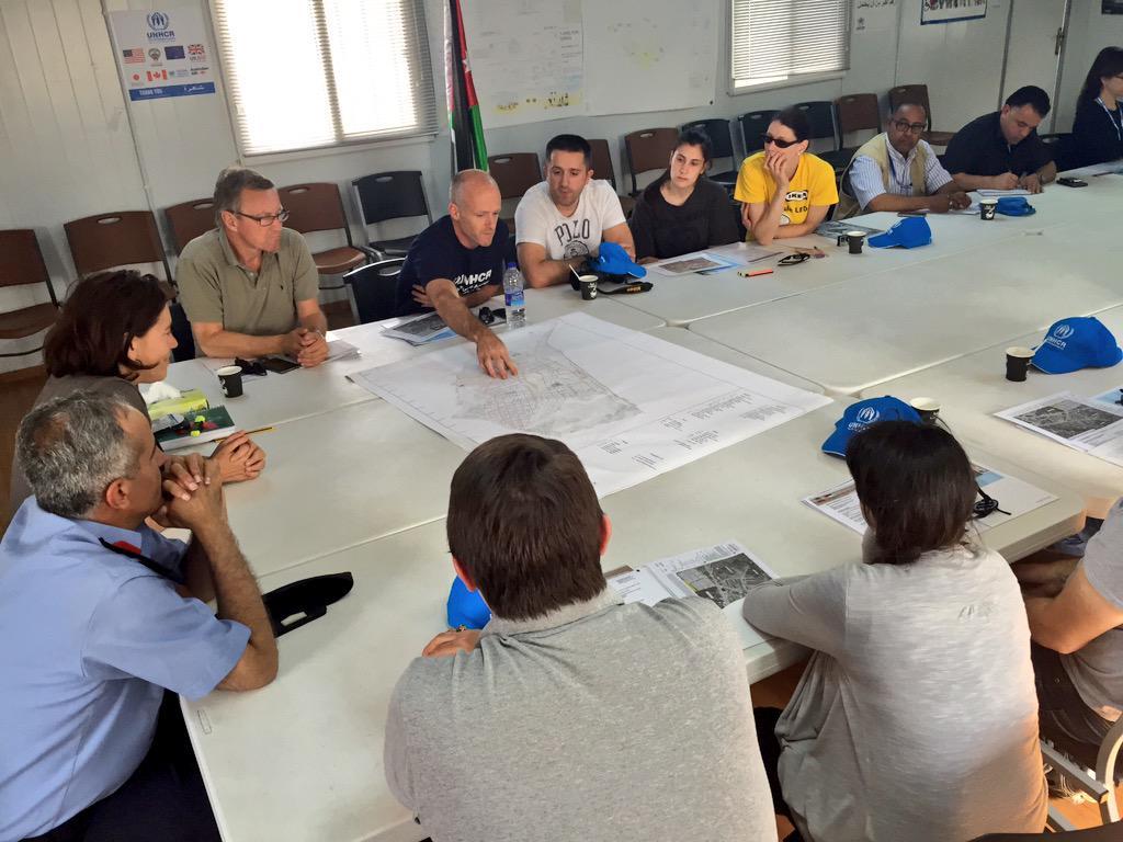 UNHCR energy engineer Paul Quigley briefing the IKEA I-witness team on solar & Unhcr energy engineer paul quigley briefing the ikea i-witness ...