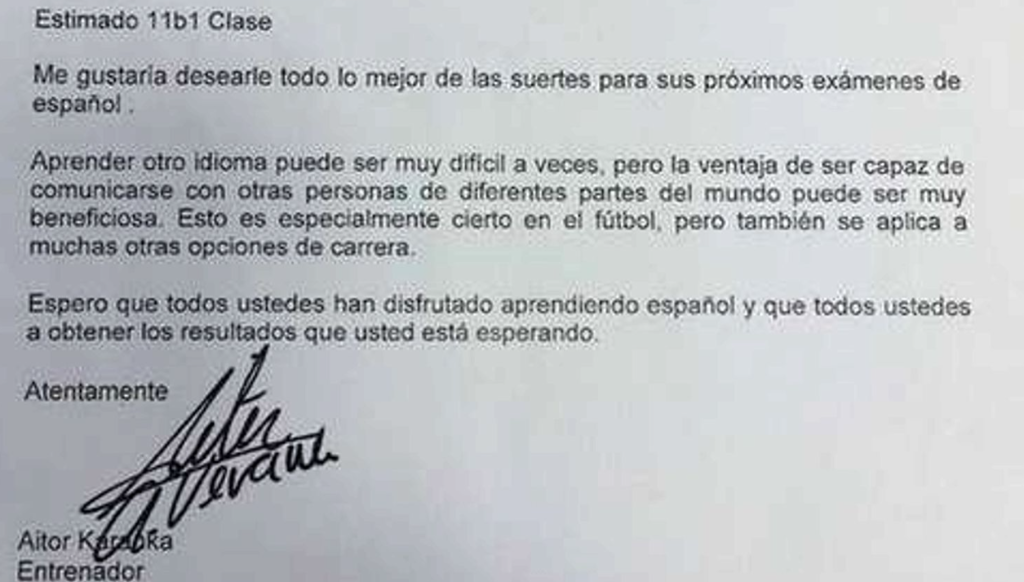 Boro: Class act: Boro boss Karanka sends good luck letter to local