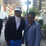 SURPRISE in NewYork streets... Met the  Legendary Comedian Paandya Raajan Sir  yes ... the world is So Small ;