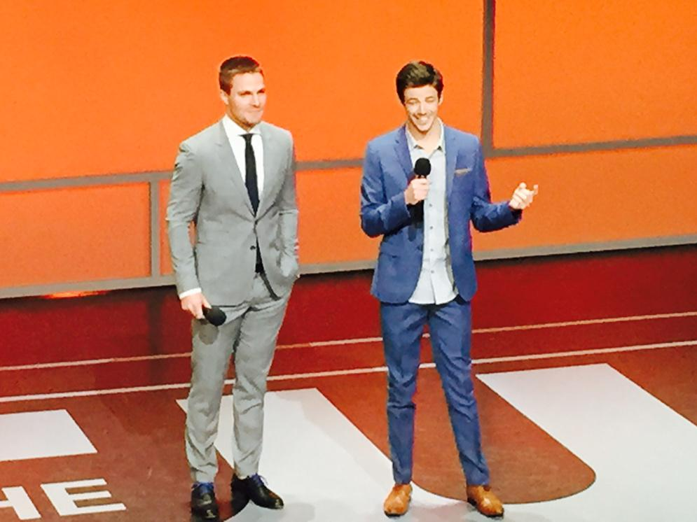 Stars @amellywood and @grantgust introduce the new @CW_network show #LegendsofTomorrow http://t.co/vk9uwA4Ohk