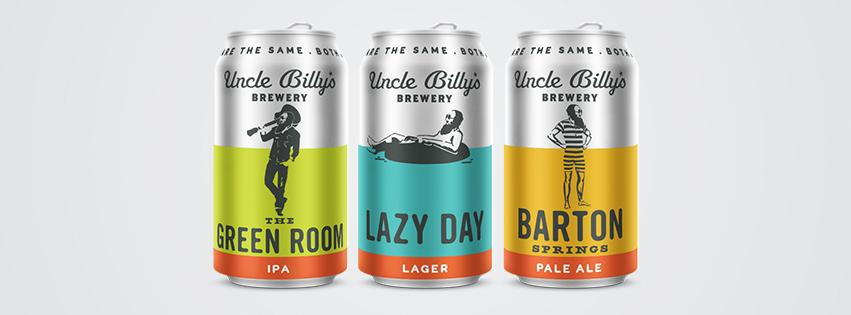 New brews = NEW LOOK! Check out the repacking & launch of Lazy Day Lager, Barton Springs Pale Ale & Green Room IPA http://t.co/zI97RnA8dq