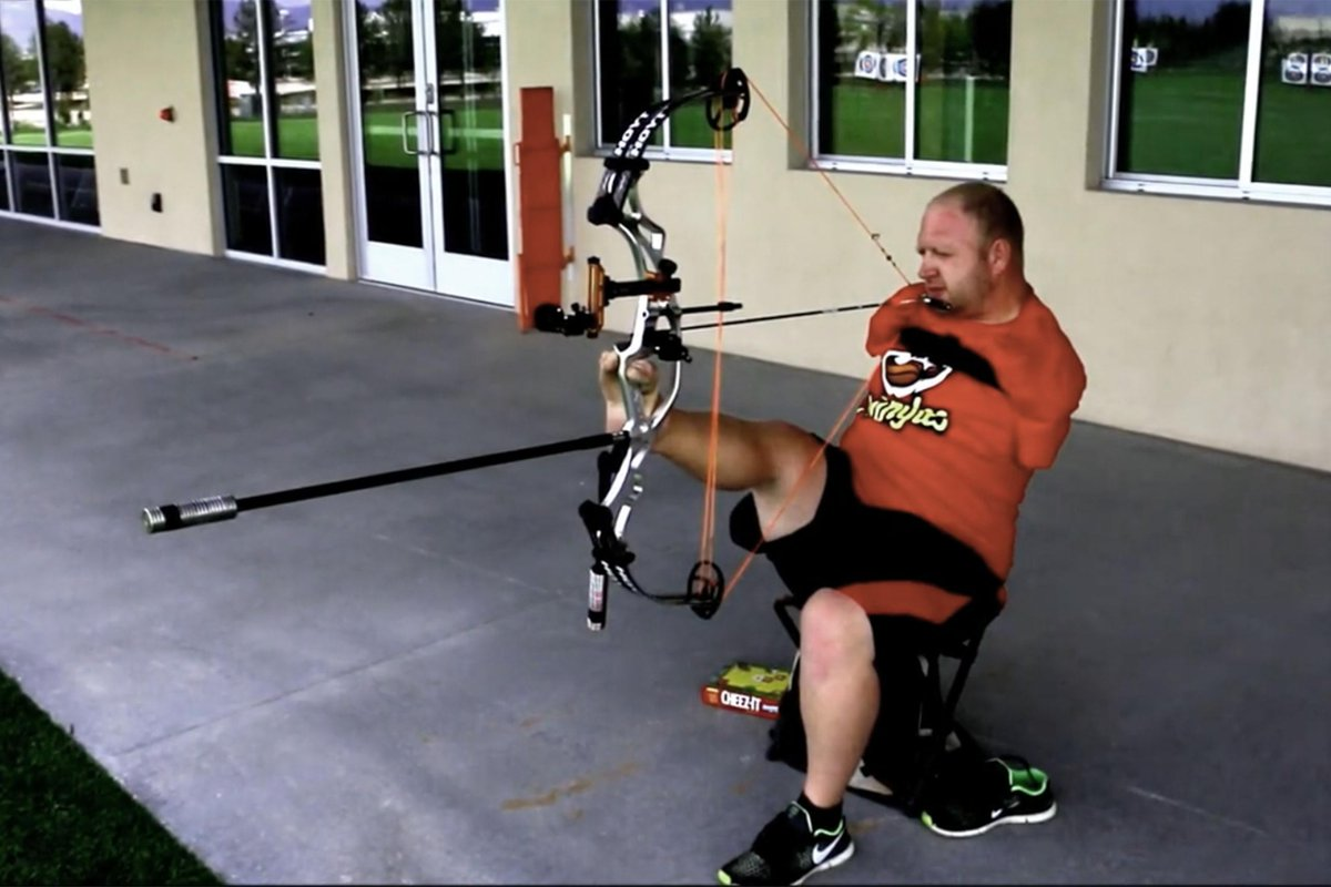 An archer with no arms hits a cheez-it 100 yards away, so you have no excuse to not do things. http://t.co/nNq3IIqZBs http://t.co/Qz2doZD60p