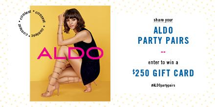 Share Your ALDO #PartyPairs Contest & enter to win a $250 Gift Card (US, CA, UK only): http://t.co/PLI3QhU7AV. http://t.co/mUnYFk2O6l