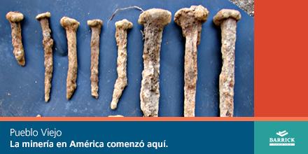 ¿Sabías que la historia de la minería en el Nuevo Mundo inició en Pueblo Viejo? http://t.co/sYUabqEQ1v #BarrickRD http://t.co/VUhpZnINqe