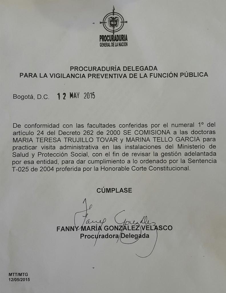 Visita no anunciada de la Procuraduría al Ministerio de Salud ¿Intimidación? http://t.co/0fsULVEVjK