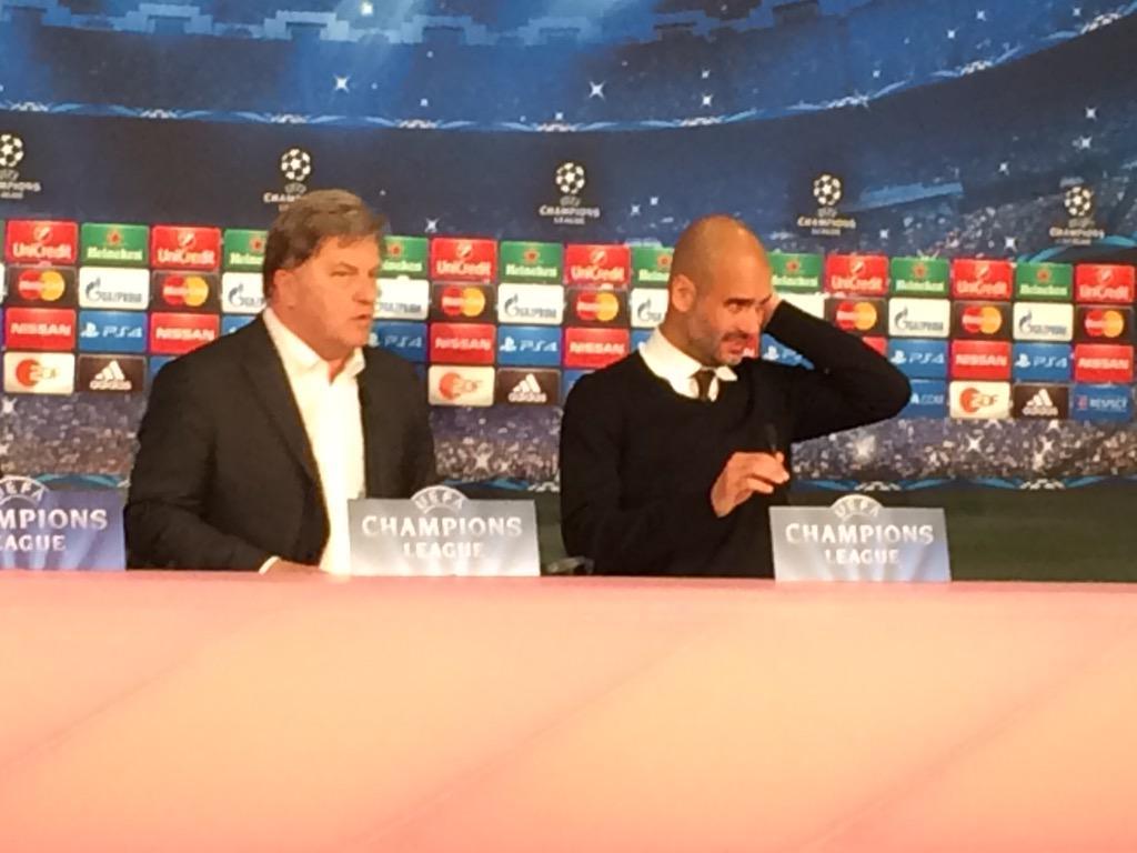 """Pep, a la sala de premsa de l'Allianz: """"Vull que el Barça guanyi la 5a Copa d'Europa"""" @esport3 http://t.co/L2jAzIThLY"""