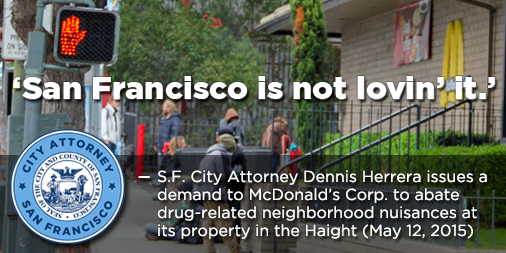 @SFCityAttorney demands McDonald's Corp. clean up drugs, nuisances at SF property it owns http://t.co/QGI5rN4I3G http://t.co/3GFWBQGjqN