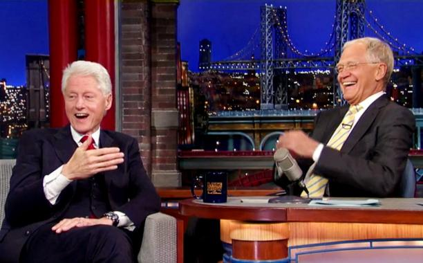 Bill Clinton tells @Letterman he'll move back into the White House on 3 conditions: