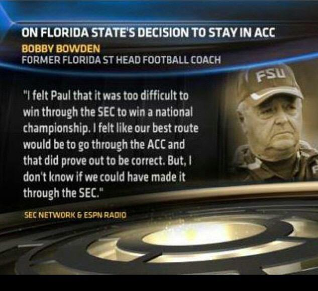 Bobby Bowden finally admitted it..