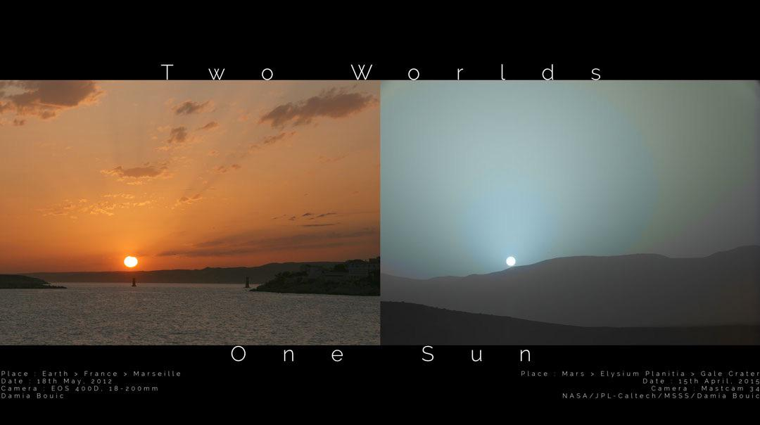 Nice side-by-side view of the sunset on Earth and Mars - red and blue. (Via @apod)  http://t.co/fdgSpwIgQP http://t.co/HTyOhrrmm5