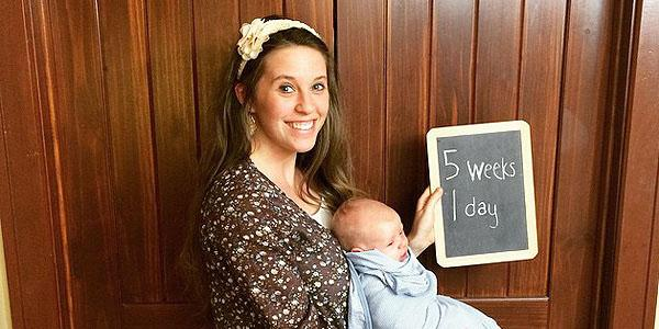 Time flies! Jill (Duggar) Dillard's baby Israel David is already 5 weeks old 19Kids @TLC