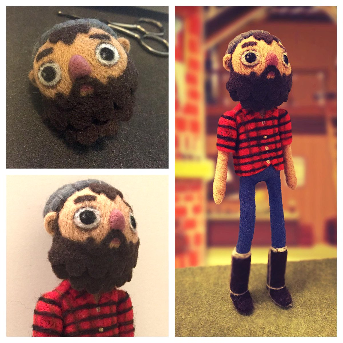 Felted my favourite character, Curtis the Lumberjack (voiced by @wilw!), from @DoubleFine's incredible #BrokenAge! http://t.co/yqSkG2WRBj