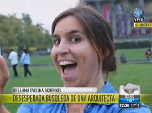 Evelina Schenkel tiene 26 años y está desaparecida. Es arquitecta y docente de la FADU http://t.co/dxH14SsZ8I Dale RT http://t.co/sbMRXsqtlV