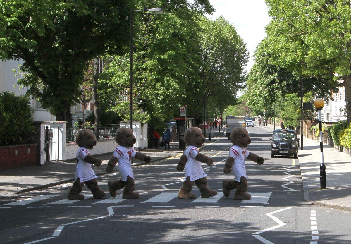 Seen on Abbey Road in London. #Cornell150 http://t.co/9s6kPQPE1y