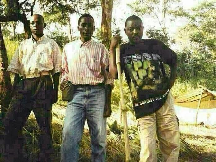 """Burundi's Nkurunziza in mid 90s in Tupac Shakur's """"Me against the World"""" T-shirt #BurundiCoup #BurundiCrisis"""