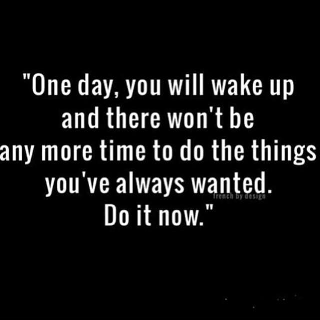 """Don't create a """"what if"""" moment. Do it now. http://t.co/Qkg6n9b7s5"""