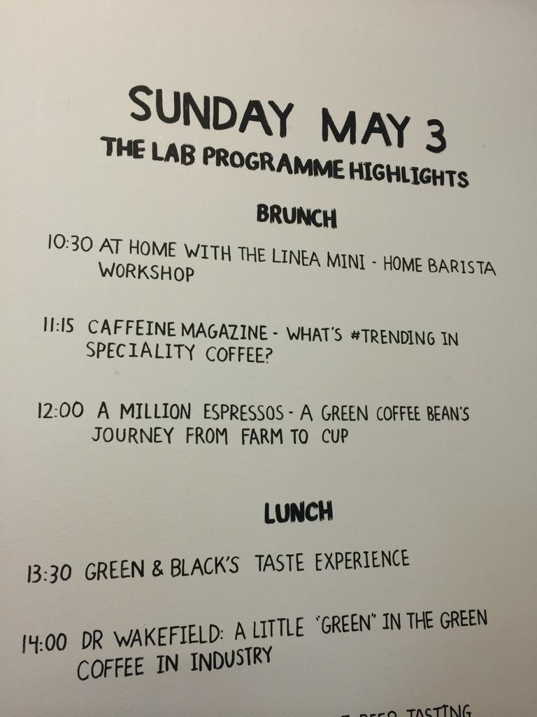 If you're at @LdnCoffeeFest tmrw @JoshuaTarlo our Coffee Dev Mgr is doing a talk at midday on buying green coffee. http://t.co/cYSBsJBLlC