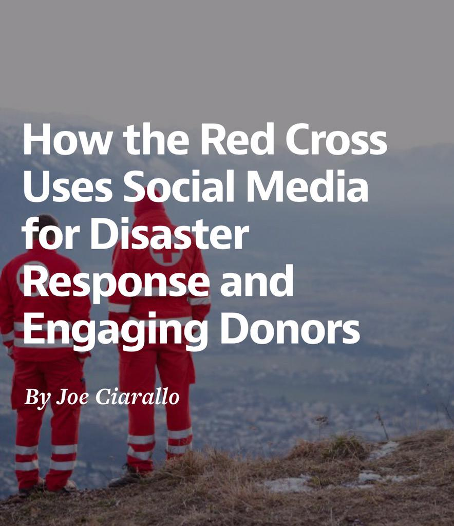 How @RedCross Uses #SocialMedia for Disaster Response & Engaging Donors. http://t.co/V7cLiwgkqe @MiamiLawrence #smem http://t.co/IH326Pt8hu