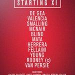 United XI: De Gea, Valencia, Smalling, McNair, Blind, Mata, Herrera, Fellaini, Young, Rooney, van Persie #mufclive http://t.co/sL5rbpvcjE