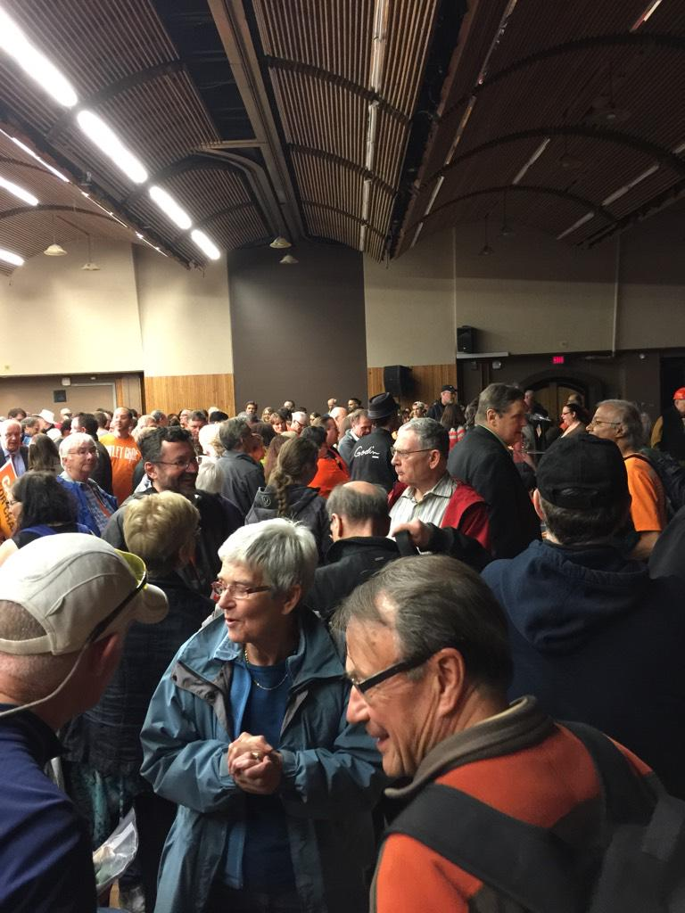 Great crowd here at the #ndp rally!! #ABNDP #ABvote #yyc @RachelNotley http://t.co/pTrAQEDQra