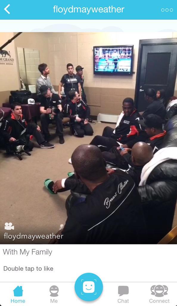 .@FloydMayweather, pre-fight, in his locker room