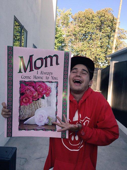 Happy birthday (he is my mom)
