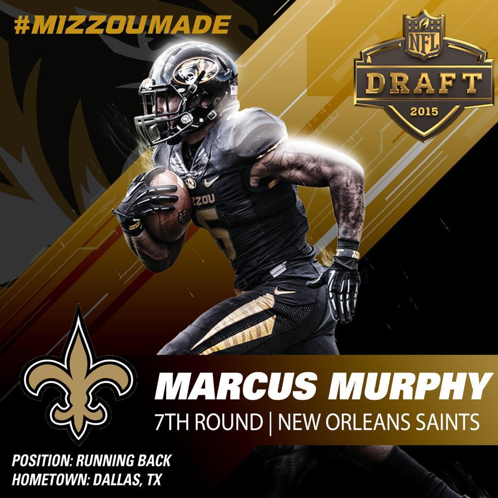 """""""@MizzouFootball: #MizzouMade RB @mmurphy6 goes to the @Saints! Congrats Marcus! #NFLDraft http://t.co/EbHMCInaDz"""" #DeSotoU #MizzouMafia"""
