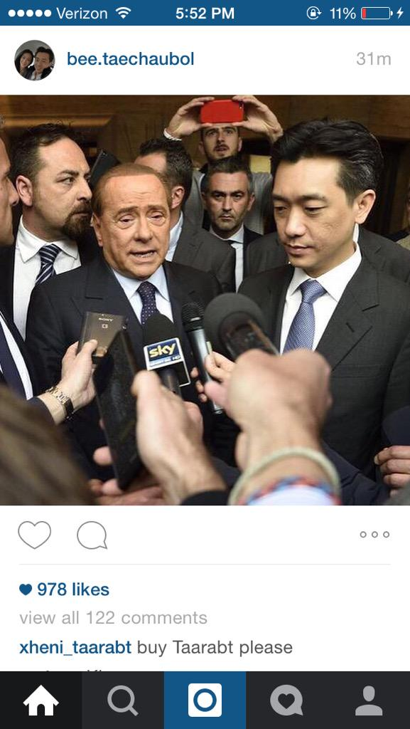 Check the comment on Bee's Instagram. €100M transfer budget and this dude wants Taarabt