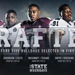 Congrats to the 5 Bulldogs selected in the #NFLDraft - most through the first 6 rounds in school history! #HailState http://t.co/A8tGCyGRKt
