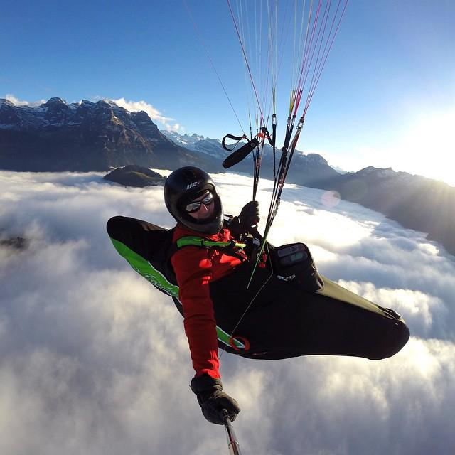 Photo of the Day! Paragliding above the fog layer in the Engelberg Valley, Switzerland. Photo by Paul van den Berg. … http://t.co/i3H2IIwcNY