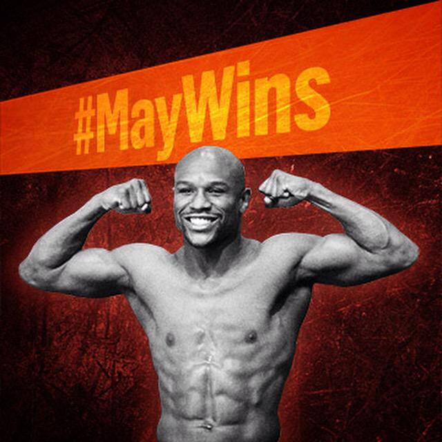 Congrats to @FloydMayweather for another win! #MayWins #MayPac http://t.co/ZlRXpmxcAq