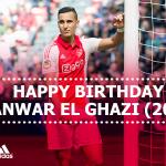 Happy birthday @AElGhazi7! De #Ajax-aanvaller is vandaag 20 jaar geworden!