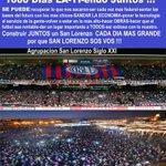 1000 Dias de OTRO San Lorenzo . Sumate al CAMBIO asociate . @MatiasLammens @cuervotinelli R.Alvarez . Juntos Podemos http://t.co/smi0kx5ZkT