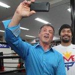 Esta es la selfie más poderosa de todas!!! ???????????? #PeleaDelSiglo Pacquiao y Sylvester Stallone ???? http://t.co/vpzW1D0LPs