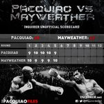 5TH ROUND: The Inquirers unofficial scorecard #PacMay #PacquiaoMayweather #LabanManny http://t.co/d7kL19oyDi