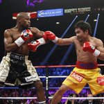 #PeleaDelSiglo   Round 6   La explosión de #Pacquiao apaga a #Mayweather http://t.co/B3j73RAhNo http://t.co/5FTMZCu5cF