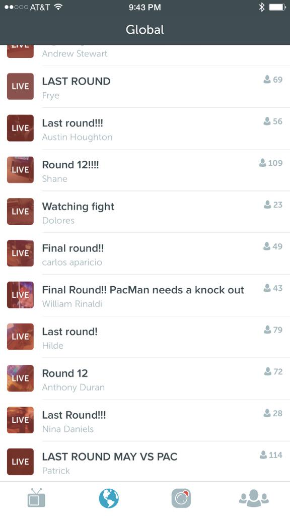So here is Periscope right now ... Live video, you've been Napstered. http://t.co/9GfLqZrwQ4