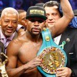 """Floyd Mayweather takes unanimous verdict over @MannyPacquiao to win """"richest fight in boxing"""" http://t.co/7FamJCH3Xh http://t.co/AzVg78yv5R"""