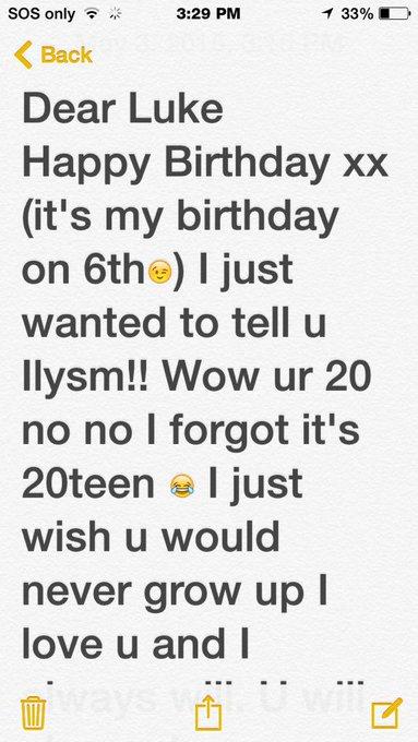 Ilysm! Happy birthday! Xx