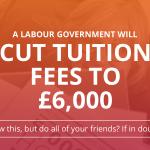 Labour will cut tuition fees. The Tories & Lib Dems will raise them again. http://t.co/KnqFL3CJGr