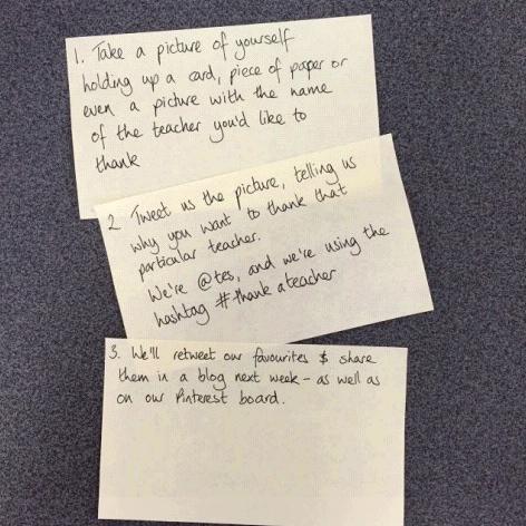 Want #ThankATeacher on Twitter? Just follow these steps and pass it on #TeachersMatter http://t.co/EhPSBuoyF0