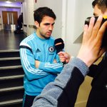 .@cesc4official stopping for a quick pre-match interview ahead of todays game... #alltheway http://t.co/US85vvFlby
